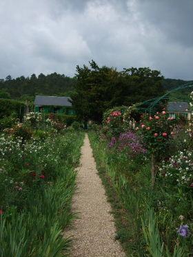 モネ自宅前の庭1