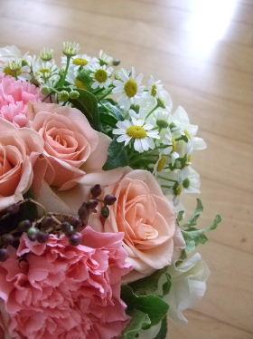 バラ&小花